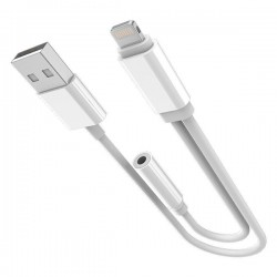 Адаптер iPhone 6/7 - 3,5mm I USB white